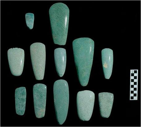 Нефритовые топоры древних Майя
