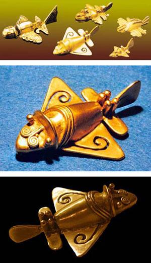Золотые фигурки из Колумбии