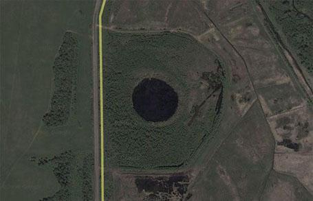 Древние тоннели - снимок с воздуха