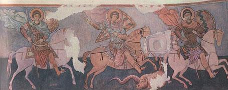 Тайны Крыма - фреска Храма Трех всадников - Эски-Кермен