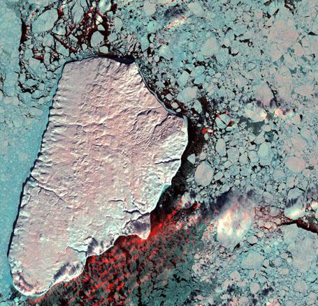 Невероятные спутниковые фотографии - остров Акпаток