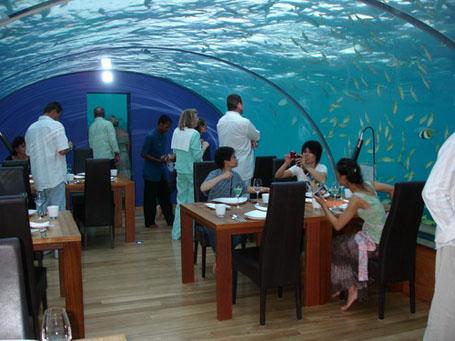 Первый в мире необычный ресторан под водой