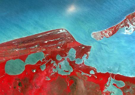 Спутниковое изображение штата Кампече