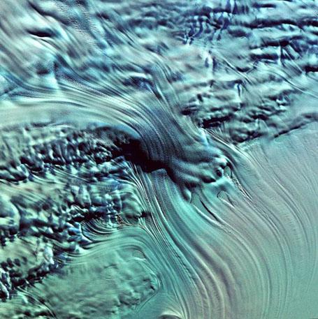 Спутниковые фотографии Земли - ледник Ламберта