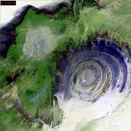 Спутниковые фотографии - Структура Ришат