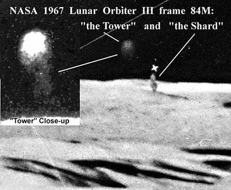 Лунные аномалии - кегля и башня-куб, снимок-lunar-orbiter-3-84m